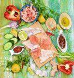 Ingredientes de bolos de peixes tailandeses Fotografia de Stock Royalty Free