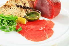Ingredientes de Carpaccio da carne Imagem de Stock Royalty Free