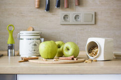 ingredientes de la Apple-empanada Fotografía de archivo
