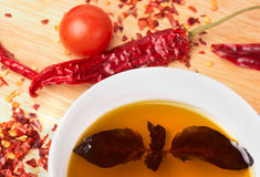 Ingredientes de la cocina mediterránea Fotografía de archivo libre de regalías