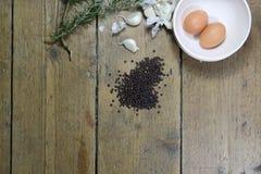 Ingredientes de la cocina fotografía de archivo libre de regalías