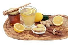 Ingredientes de la curación del frío y de la gripe Imagen de archivo libre de regalías