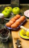 Ingredientes de la empanada de Apple imágenes de archivo libres de regalías