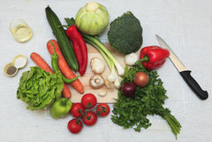 Ingredientes de la ensalada Foto de archivo