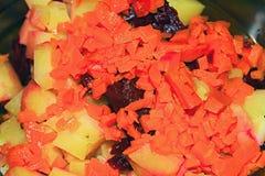 Ingredientes de la ensalada vegetal imágenes de archivo libres de regalías