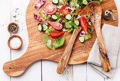 Ingredientes de la ensalada vegetal Imagen de archivo libre de regalías