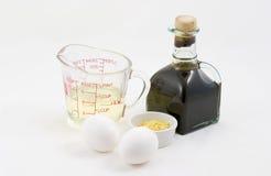 Ingredientes de la mayonesa Imagen de archivo libre de regalías