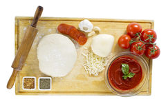 Ingredientes de la pizza Fotografía de archivo libre de regalías