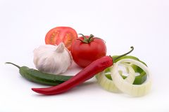 Ingredientes de la salsa Fotografía de archivo