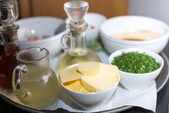 Ingredientes de la salsa Foto de archivo