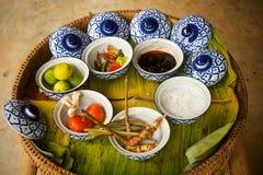 Ingredientes de la sopa de Tom Yum Foto de archivo