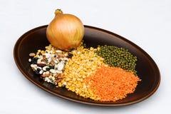 Ingredientes de la sopa del pulso imágenes de archivo libres de regalías