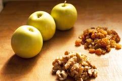 Ingredientes de la tarta de manzanas Imagenes de archivo