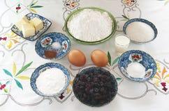 Ingredientes de la torta Galés Imagenes de archivo