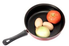 Ingredientes de la tortilla de huevos Imagenes de archivo
