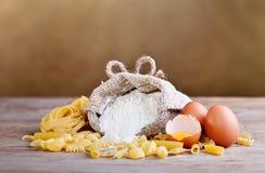 Ingredientes de las pastas Foto de archivo