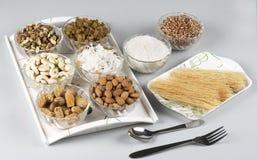 Ingredientes de los fideos dulces para el festival de Eid Imagen de archivo libre de regalías