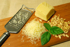 Ingredientes de Pesto Imagen de archivo
