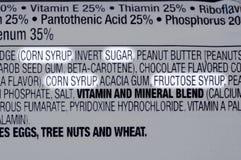Ingredientes del azúcar Fotografía de archivo libre de regalías