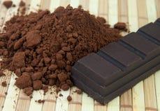 Ingredientes del cacao Imagen de archivo