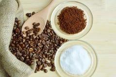 Ingredientes del café Fotografía de archivo libre de regalías