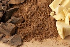 Ingredientes del chocolate Imagen de archivo libre de regalías