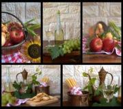 Ingredientes del collage foto de archivo libre de regalías