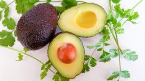 Ingredientes del Guacamole Sano y delicioso Foto de archivo