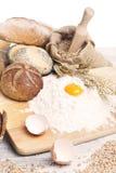 Ingredientes del pan Imagen de archivo libre de regalías