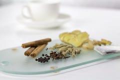 Ingredientes del té para el té de la yogui Fotografía de archivo