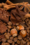 Ingredientes do chocolate Foto de Stock Royalty Free