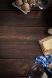 Ingredientes do cozimento, espaço livre - fundo do alimento Imagem de Stock Royalty Free