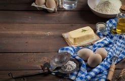 Ingredientes do cozimento - fundo do alimento Imagens de Stock