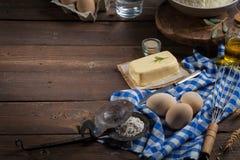 Ingredientes do cozimento - fundo do alimento Imagens de Stock Royalty Free