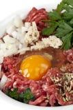 Ingredientes do Hamburger Foto de Stock Royalty Free