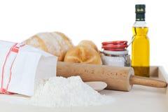 Ingredientes do pão Imagem de Stock Royalty Free