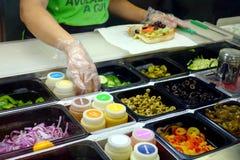 Ingredientes do restaurante do metro imagens de stock