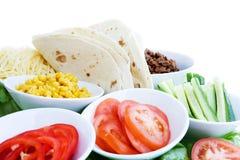 Ingredientes do Taco Foto de Stock