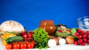Ingredientes do vegetal e de alimento Foto de Stock