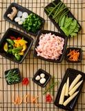 Ingredientes do Wok Foto de Stock Royalty Free