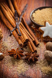 Ingredientes e especiarias do cozimento Fotos de Stock