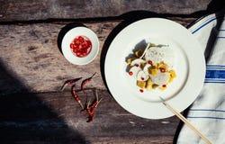 Ingredientes exóticos da salada Fotografia de Stock