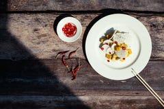Ingredientes exóticos da salada Foto de Stock Royalty Free