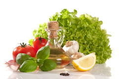 Ingredientes frescos da salada Imagem de Stock Royalty Free