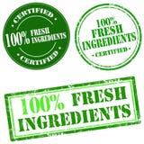 Ingredientes frescos de 100% Imagens de Stock Royalty Free