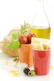 Ingredientes frescos para um jantar italiano Fotos de Stock