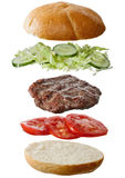 Ingredientes hechos en casa de la hamburguesa Fotografía de archivo