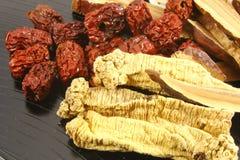 Ingredientes herbarios chinos de la sopa Imagen de archivo