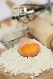 Ingredientes Home do cozimento na cozinha Foto de Stock Royalty Free