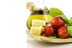 Ingredientes italianos Imagens de Stock